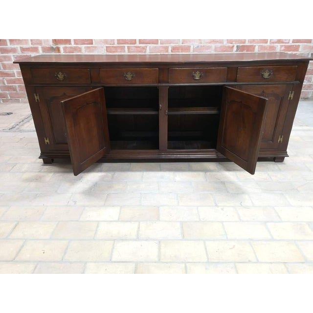 Metal Early 20th C. French Country Oak Sideboard Credenza Buffet Server For Sale - Image 7 of 13