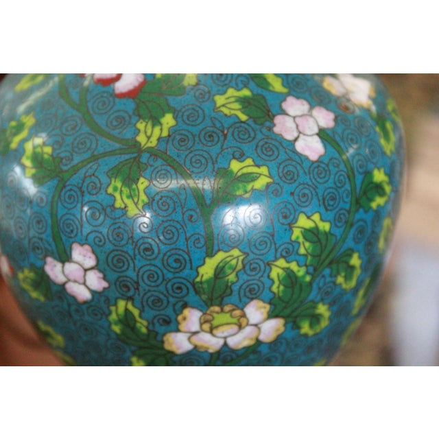 Mid 19th Century Cloisonne Lamp For Sale - Image 4 of 9