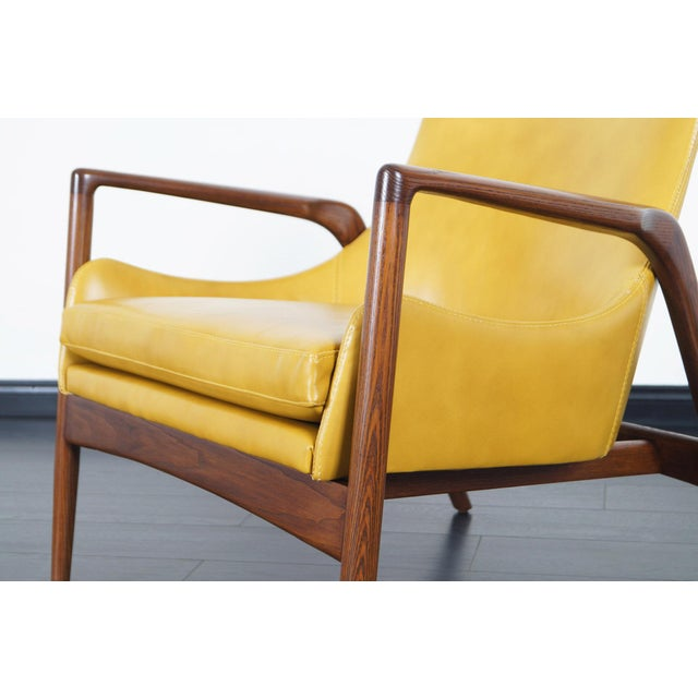 Danish Modern Leather Lounge Chairs by Ib Kofod Larsen For Sale - Image 10 of 13