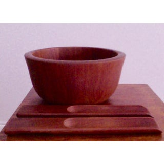 Jens Quistgaard Dansk Teak Salad Bowl With Serving Set Preview