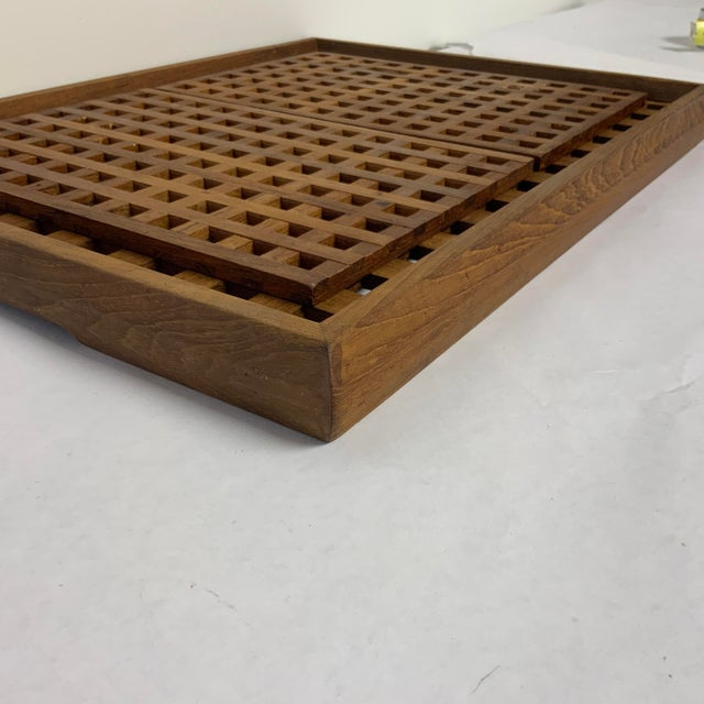 1960s Mid Century Dansk Teak Trivets and Tray For Sale In Washington DC - Image 6 of 7