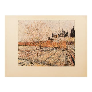 """1950s Van Gogh, """"Orchard. Springtime"""" First Edition Lithograph For Sale"""