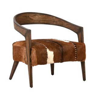 Deco Horseshoe Arm Chair For Sale