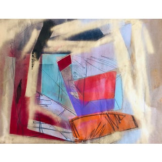Abstract Original Painting by Erik Sulander 23x19 Paper For Sale