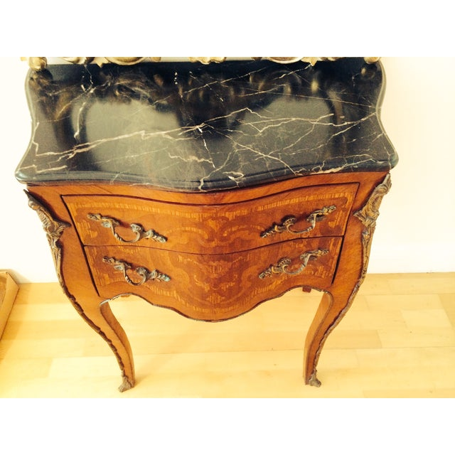 French French Rococo Bombe Chest with Gilt Rococo Mirror For Sale - Image 3 of 6