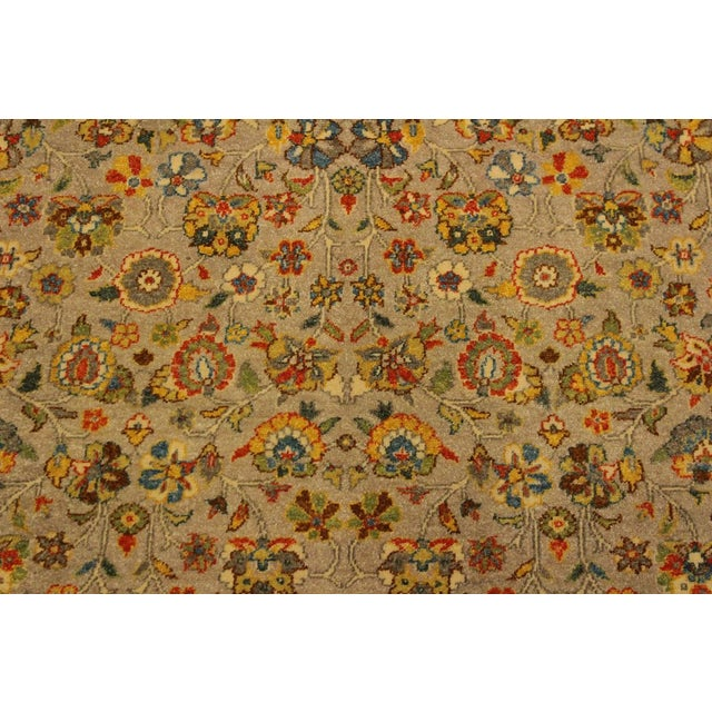 Textile Istanbul Crysta Lt. Gray/Lt. Green Turkish Hand-Knotted Rug -4'2 X 6'3 For Sale - Image 7 of 8