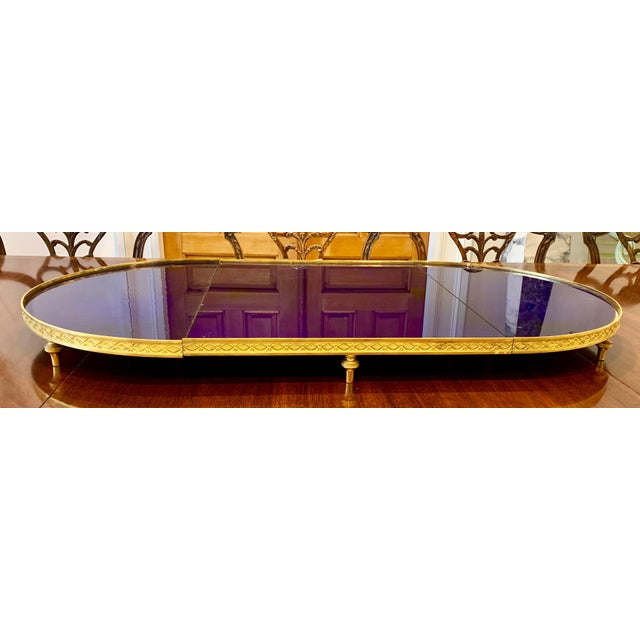 Neoclassical Russian Ormolu and Cobalt Glass Surtout De Table or Plateau For Sale - Image 3 of 5