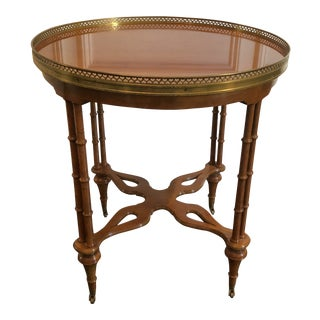 20th Century Chinoiserie Bamboo Accent Table For Sale