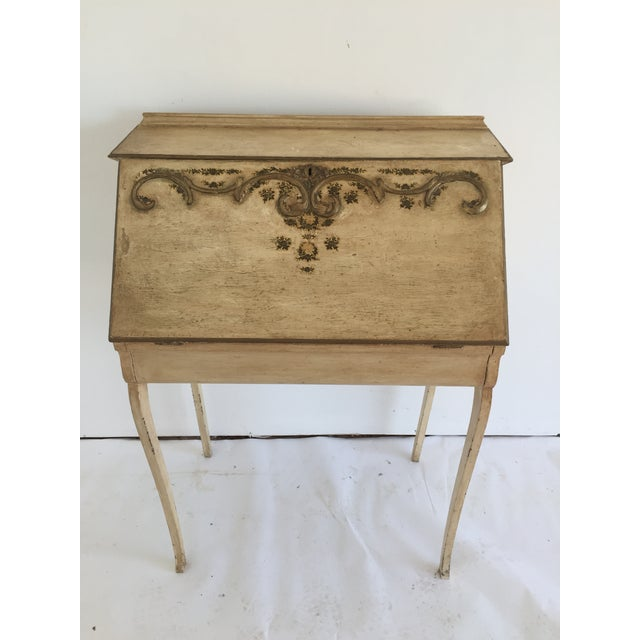 Petite French Desk and Chair - Image 4 of 5