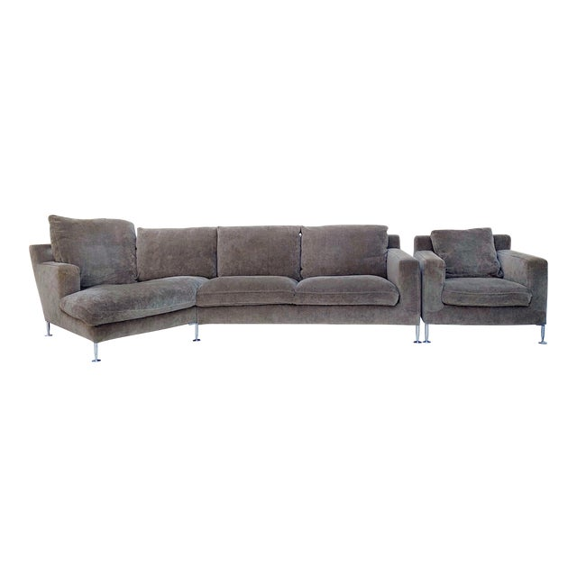 B&b Italia Harry Sectional and Chair - a Pair For Sale