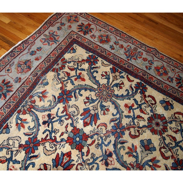 1900s Handmade Antique Persian Mahal Rug 9.2' X 11.6' For Sale - Image 4 of 11