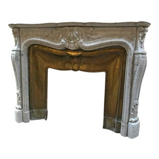 Louis XIV Antique Marble Mantel, circa 1820