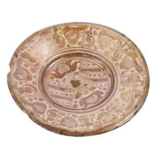 Hispano-Moresque Copper-Lustre Charger, Circa 1550 For Sale