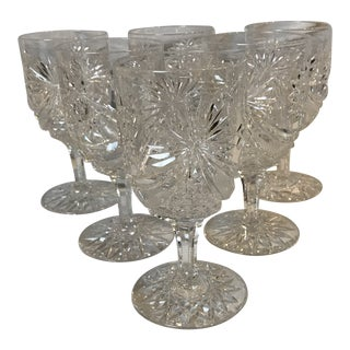 Brilliant Period Cut Glass Goblets - Set of 6 For Sale
