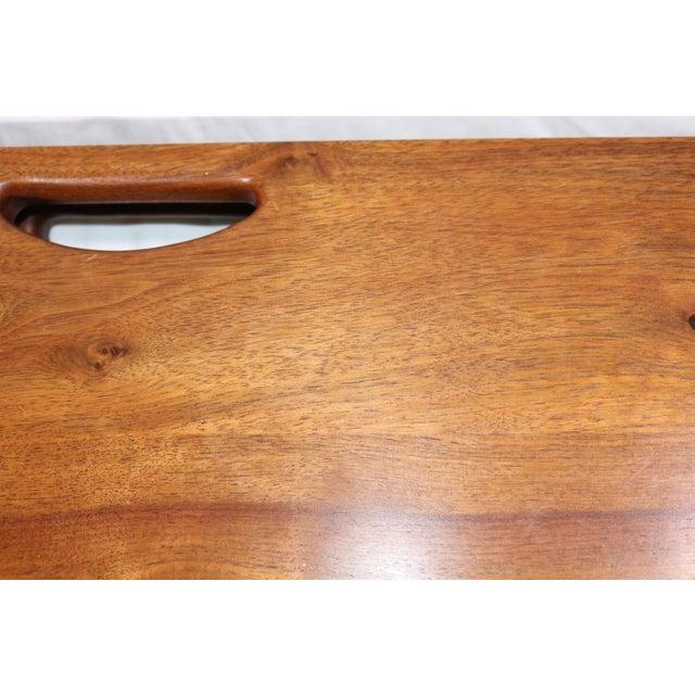Brown 1980s Vintage Southwestern Wood Folding Table For Sale - Image 8 of 11