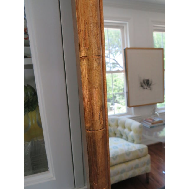 Vintage Palm Beach Style Gilt Faux Bamboo Rectangular Mirror For Sale In Dallas - Image 6 of 13