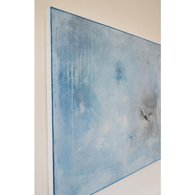 Blue Veil. Original Mixed Media Oil on Canvas by C. Damien Fox 2018 - Image 5 of 9