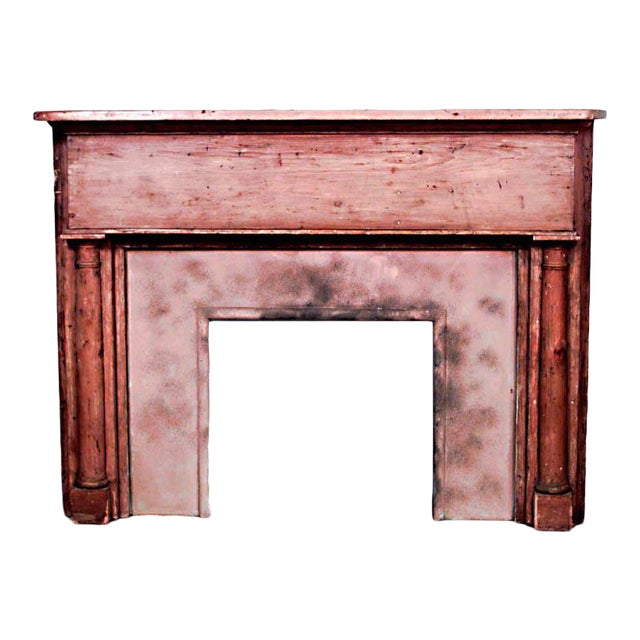 Country Stripped Pine Mantel For Sale