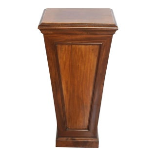 Pair of Italian Neoclassic Faux Bois Painted Pedestals For Sale