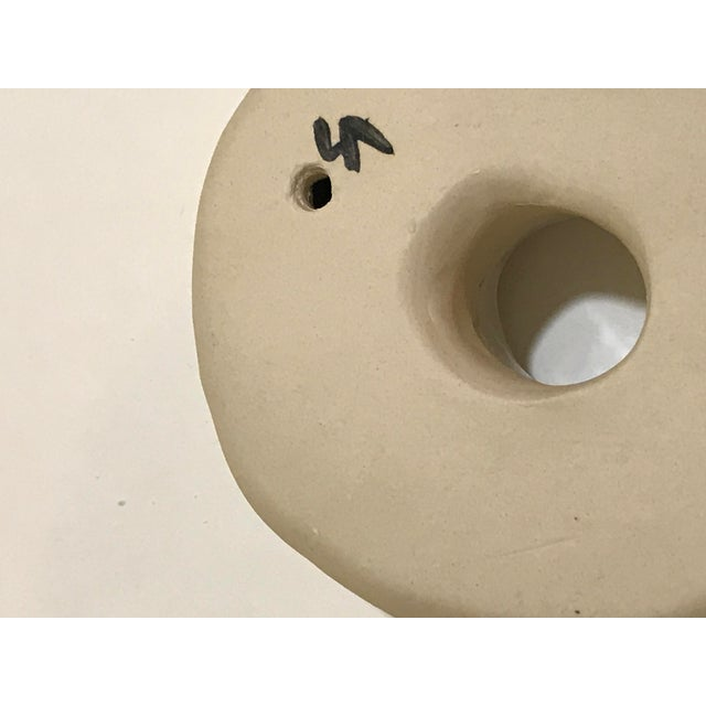 Ceramic Wall Donut With Gold Luster For Sale In Charleston - Image 6 of 7