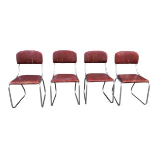 Kem Weber for Lloyd Set of 4 Dining Chairs For Sale