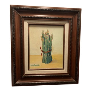 ''Bunch of Asparagus'' Framed Oil Painting For Sale