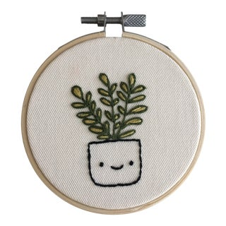 Fiddle Fig Face Plant Embroidery