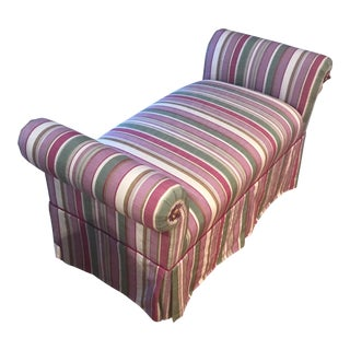 Sitting Bench With Rainbow Color Fabric For Sale