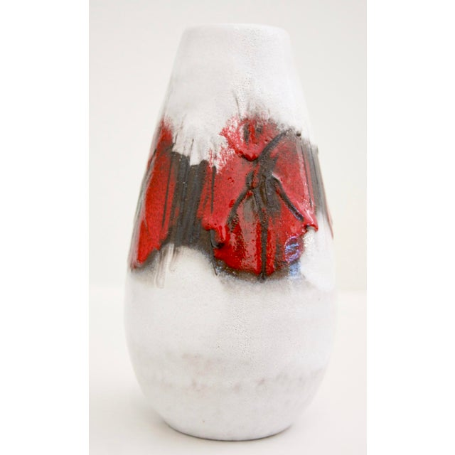 Lava Glaze Pottery Vase from Germany For Sale - Image 4 of 11