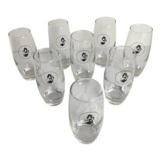Playboy Club Cocktail Glasses by Leroy Neiman Femlin - Set of 8 For Sale