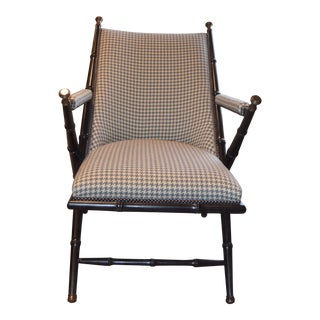 1880s Hickory Chair French Campaign Style Chair