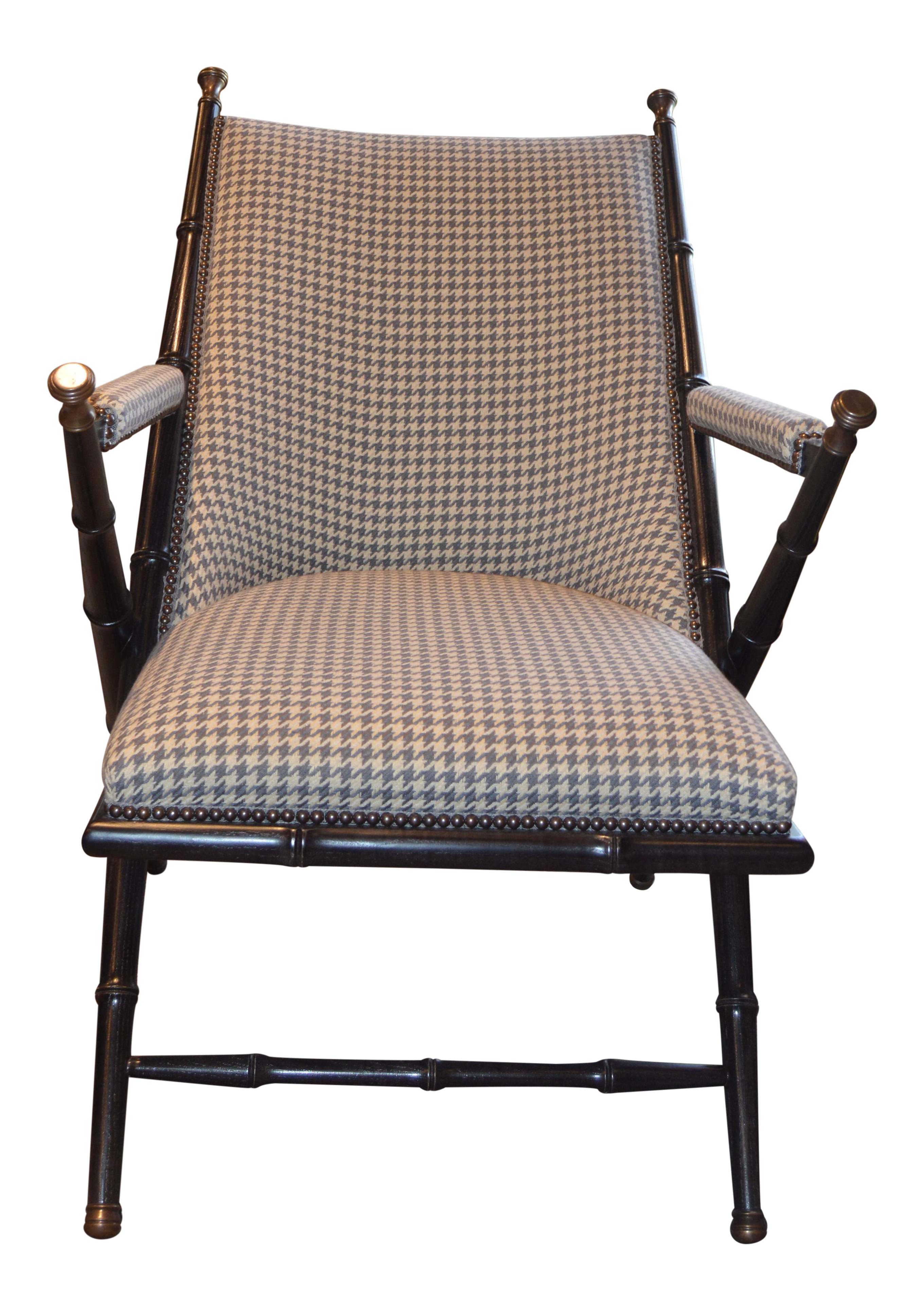 1880s Hickory Chair French Campaign Style Chair   Image 1 Of 5