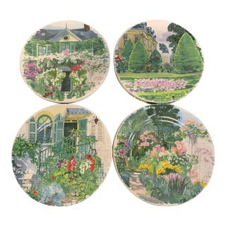 Gien Giverny Plates by Fabrice Moireau - Set of 16 For Sale