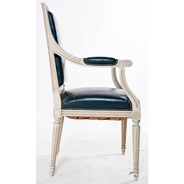 Louis XVI Style Painted Armchairs - A Pair - Image 7 of 9