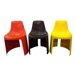 Vintage Overman Tango Chairs - Set of 3 For Sale
