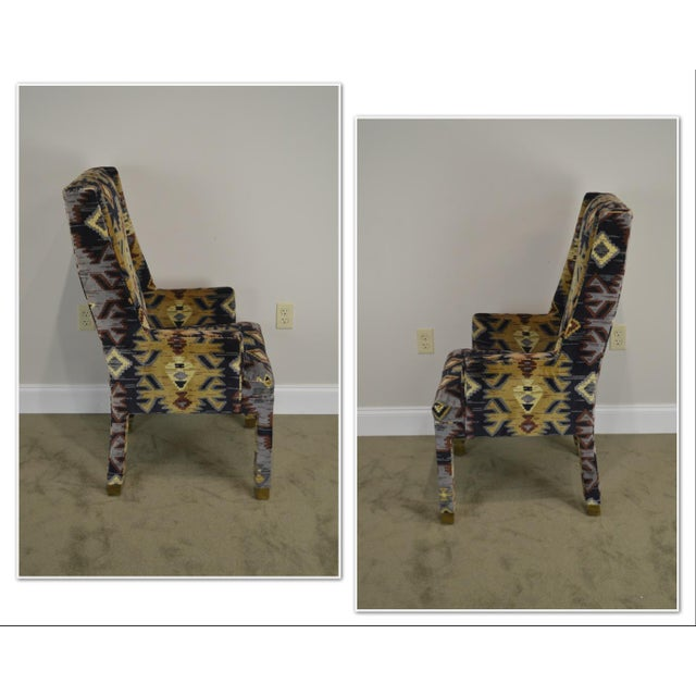 Traditional Henredon Vintage Southwood Upholstered Parsons Arm Chair For Sale - Image 3 of 13