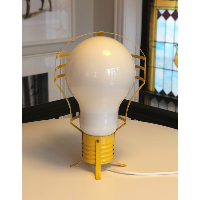 Mid-Century Modern 1960s Opalescent Light Bulb Lamp For Sale - Image 3 of 8