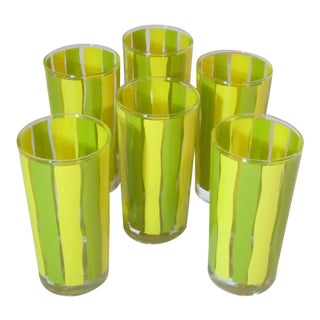 Vintage Mid-Century Tumblers - Set of 6 For Sale