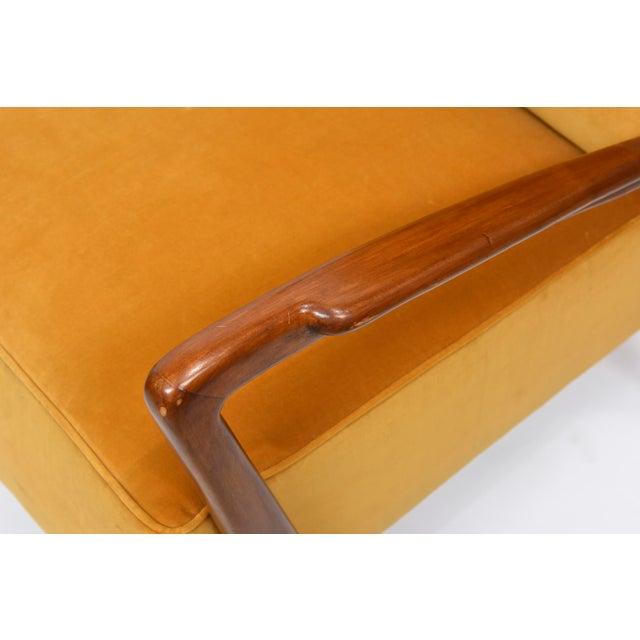 Wood Rare Pair of Italian Modern Walnut Armchairs, Orlando Orlandi For Sale - Image 7 of 11