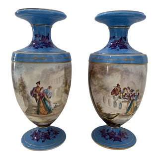 19th Century Porcelain Vases - a Pair For Sale