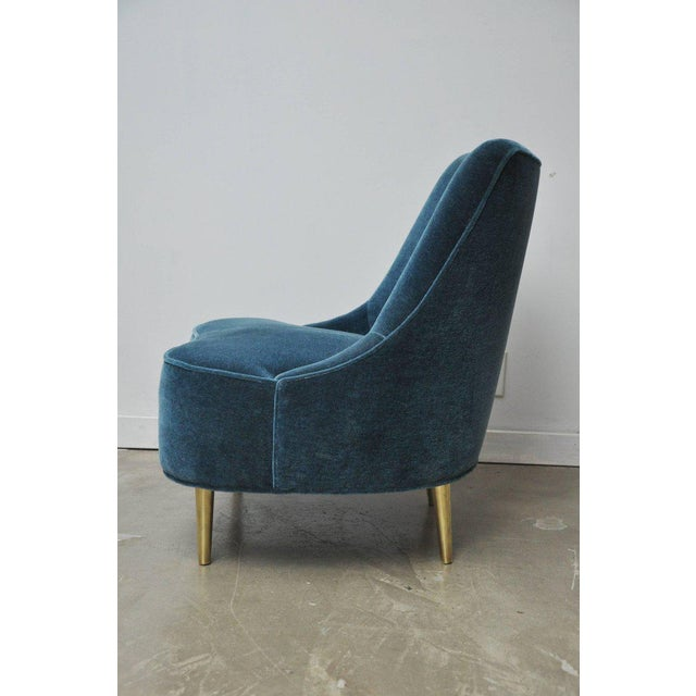 """1950s Dunbar """"Teardrop"""" Chair by Edward Wormley For Sale - Image 5 of 7"""