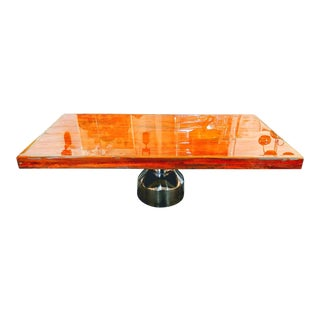 Modern Coffee Table With a Rustic Urban Style For Sale