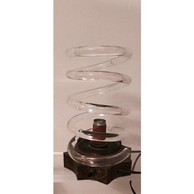 Dorothy Thorpe Brass & Lucite Spiral Lamp - Image 2 of 6