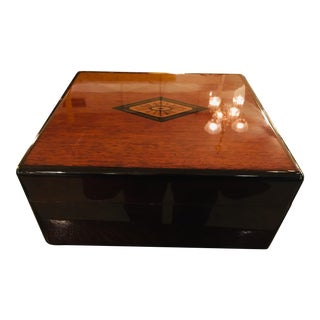 Mid Century Highly Lacquered Cigar Humidor For Sale