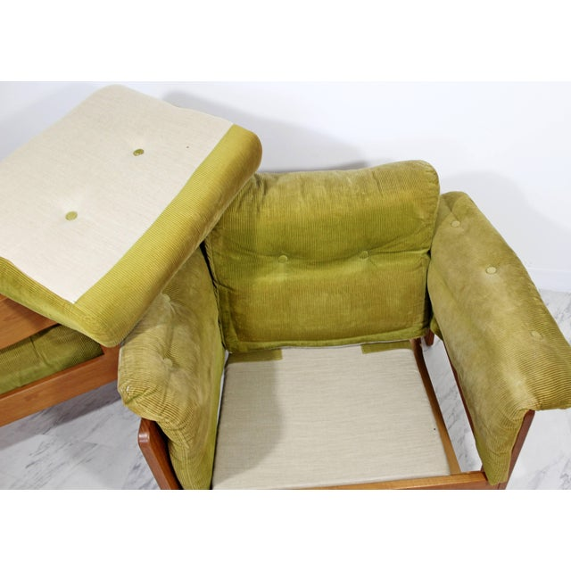 Pair of 1960s Mid-Century Modern N. Eilersen Danish Lounge Chairs For Sale - Image 10 of 12