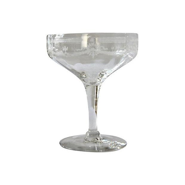 Etched Champagne Coupes - Set of 4 - Image 3 of 3