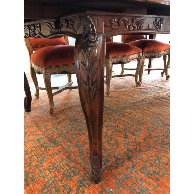 Wood French Provencale Style Parquet Dining Table For Sale - Image 7 of 12