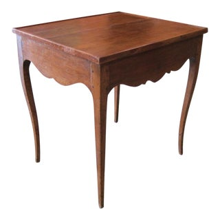 Late 19th Century French Provincial Walnut Gaming Table For Sale