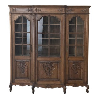 Antique French Louis XV Bookcase For Sale