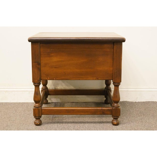 Late 20th Century Vintage Ethan Allen Pine Nightstand For Sale - Image 11 of 13